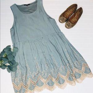 Andrée by Unit Muted Lace Hem Sleeveless Dress